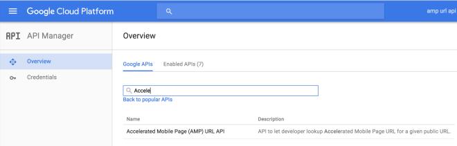 AMP URL API